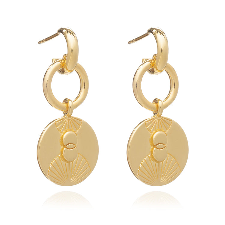 Rachel Jackson Luminary Statement Loop Gold Earrings