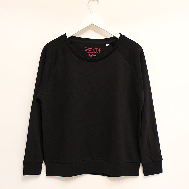 R Goods Women's Black Crew Sweatshirt