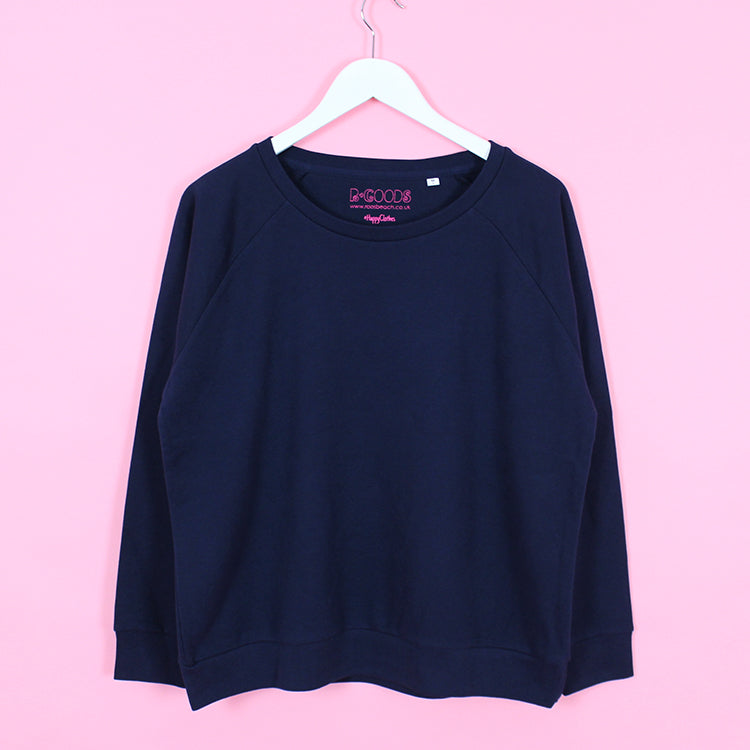 R Goods Women's Navy Crew Sweatshirt