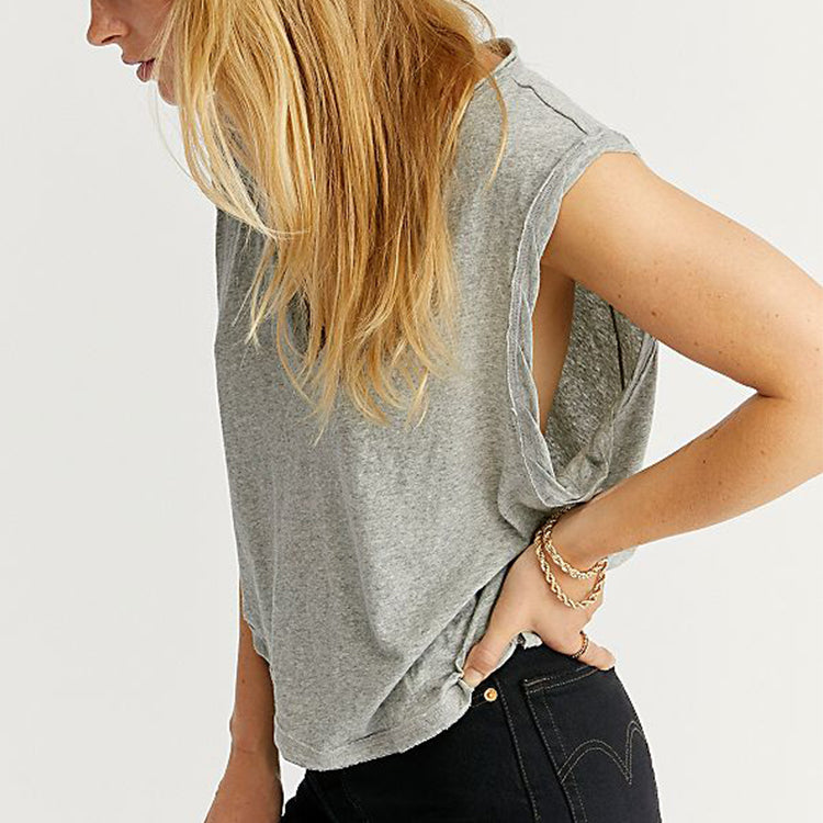 Free People Dreamy Grey Tank Top