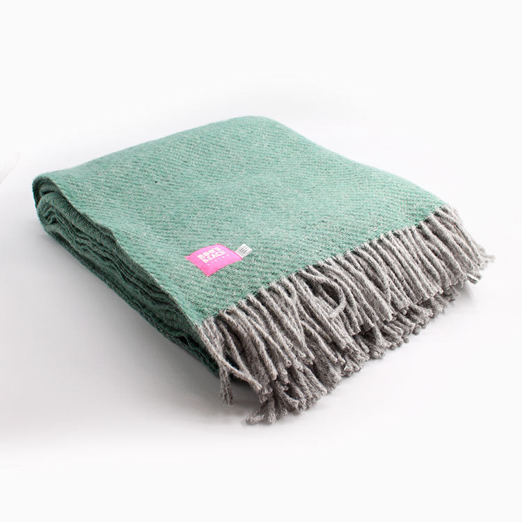 Lifestyle Sea Green Pure Wool Throw