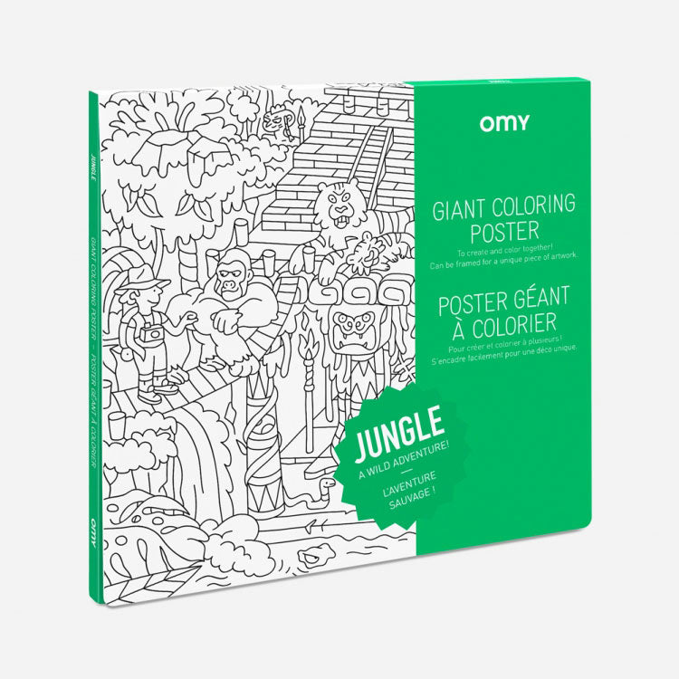 OMY Giant Jungle Colouring Poster