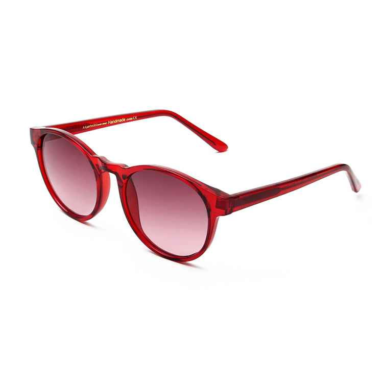A.Kjærbede Red Transparent Marvin Sunglasses