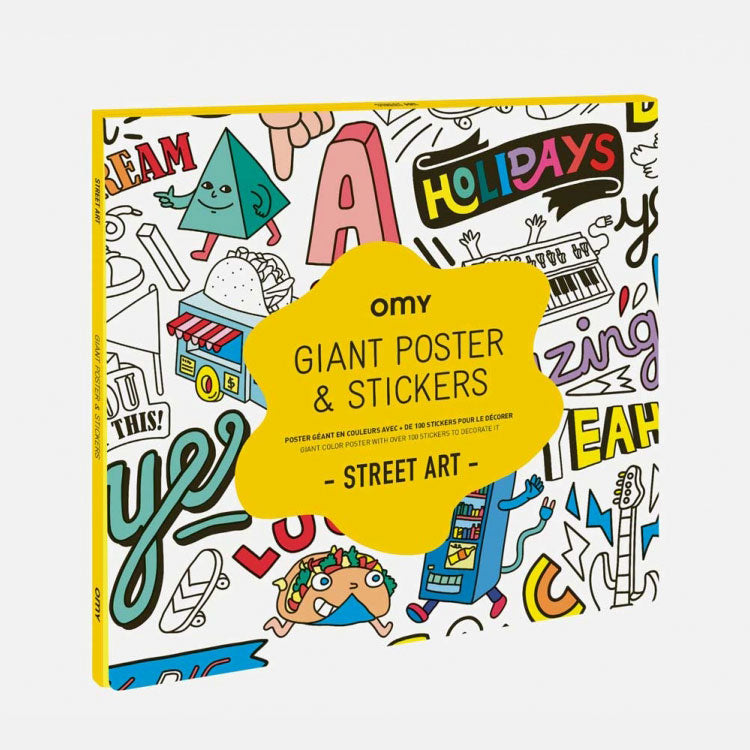 OMY Giant Street Art Poster and Stickers