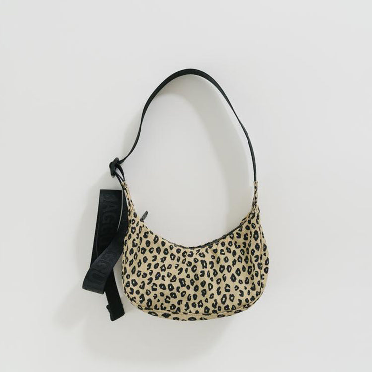 Baggu Honey Leopard Mini Crescent Bag
