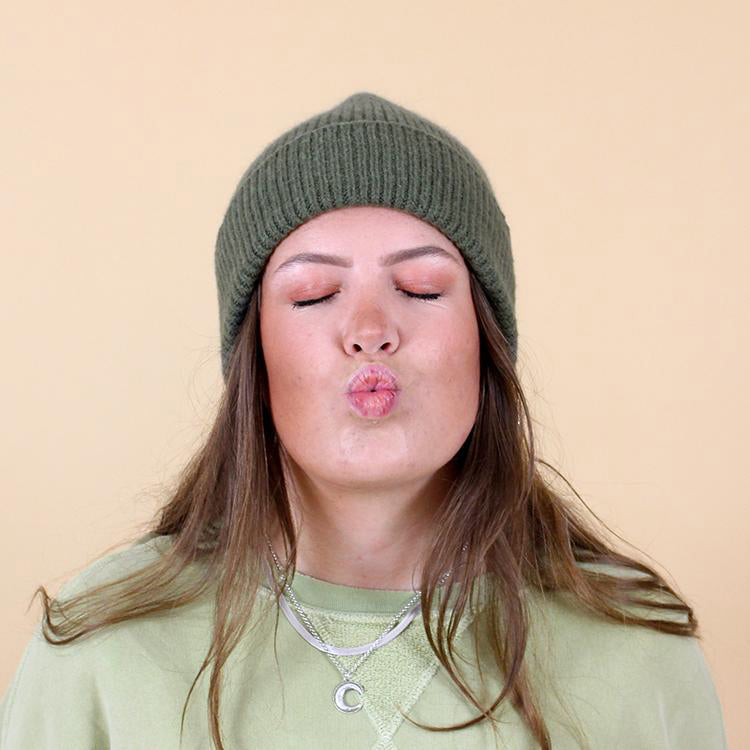Le Bonnet Croco Green Beanie Hat
