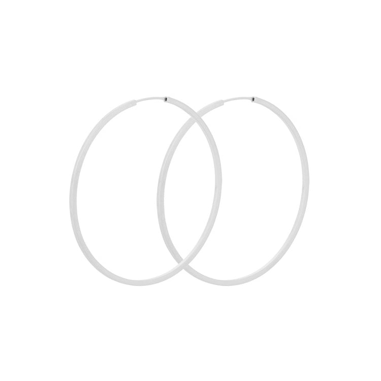 Pernille Corydon Silver Orbit Hoop Earrings 50mm