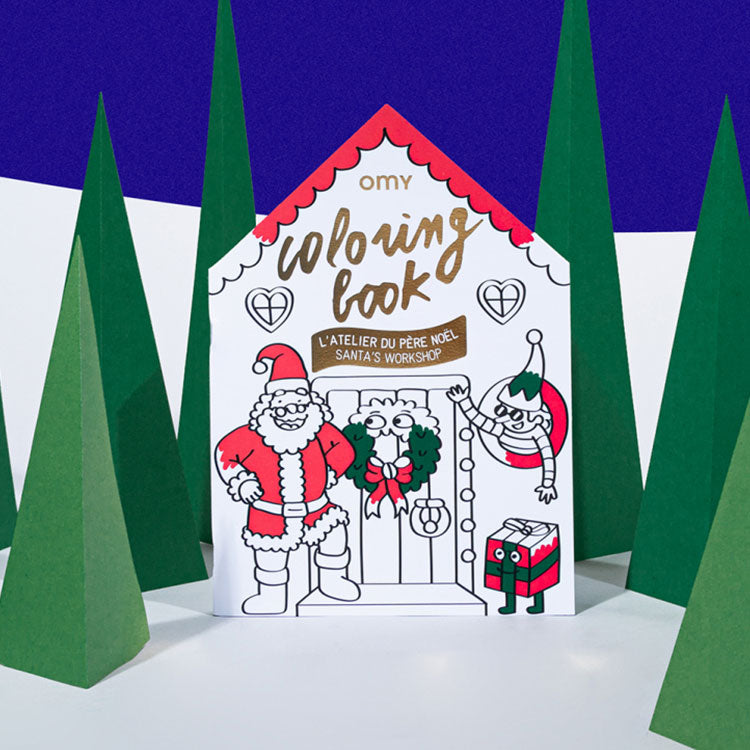 OMY Santa's Workshop Colouring Book