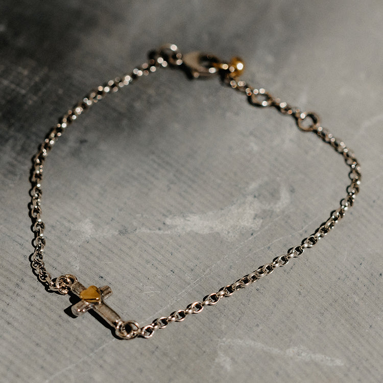 Sophie Harley Teeny Tiny Cross Bracelet