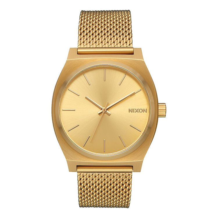 Nixon Time Teller Milanese All Gold Watch