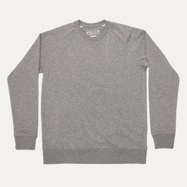 R Goods Men's Rich Grey Crew Sweatshirt