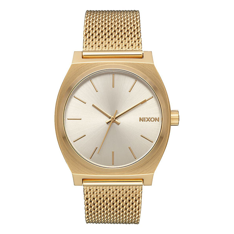 Nixon Time Teller Milanese All Gold and Cream Watch
