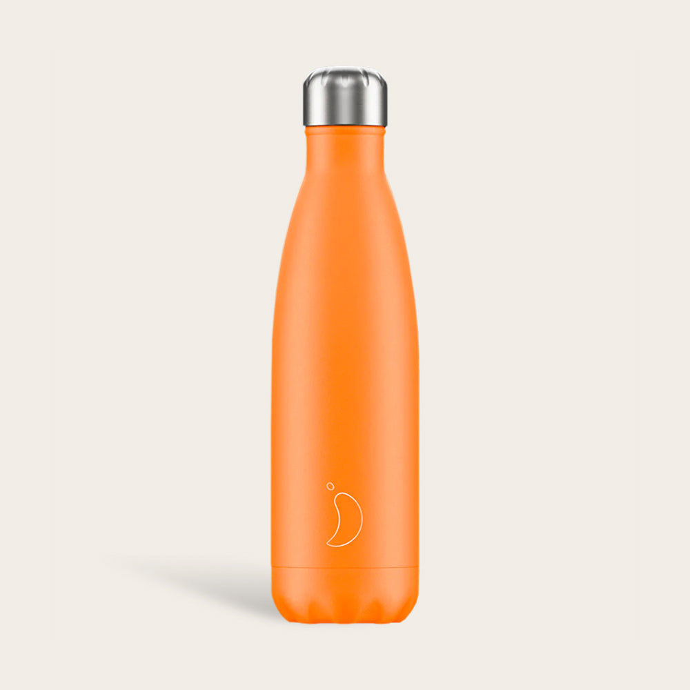 Chilly's Neon Orange Drinking Bottle 500ml
