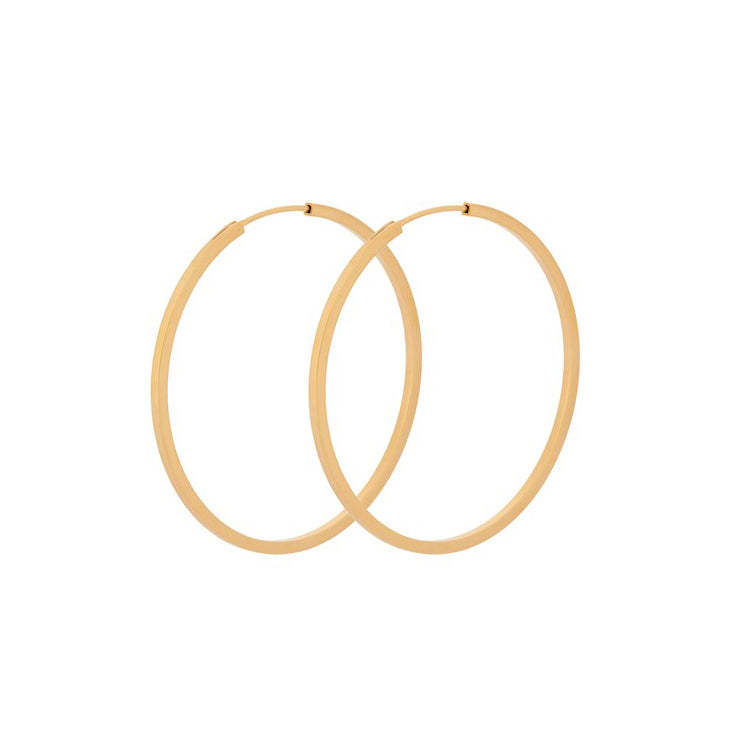 Pernille Corydon Small Orbit Gold Hoop Earrings 40 mm