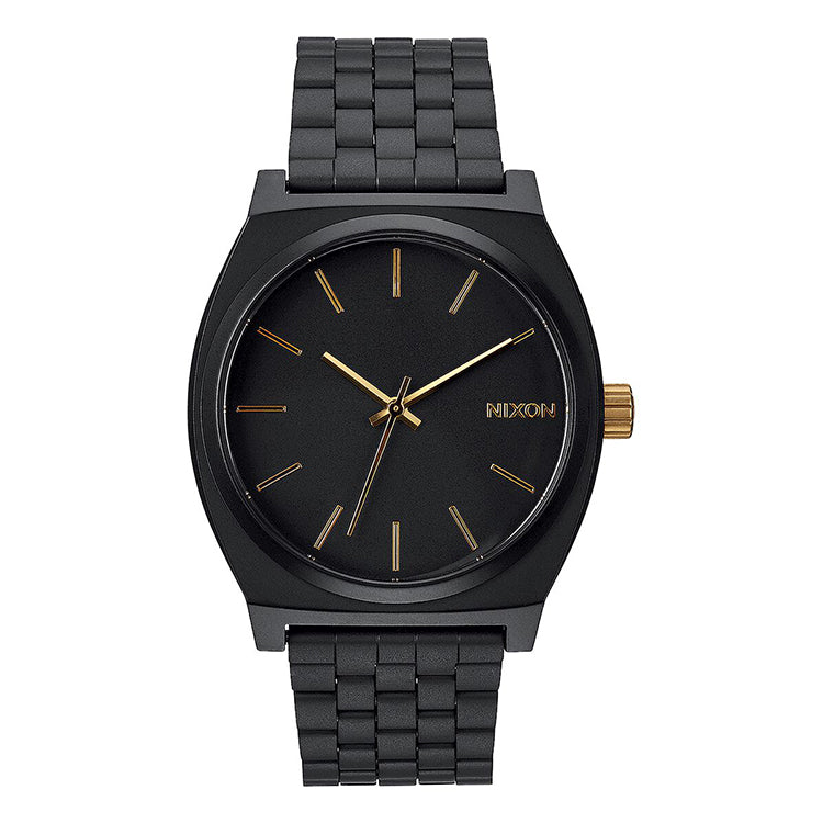 Nixon Time Teller Matte Black and Gold Watch