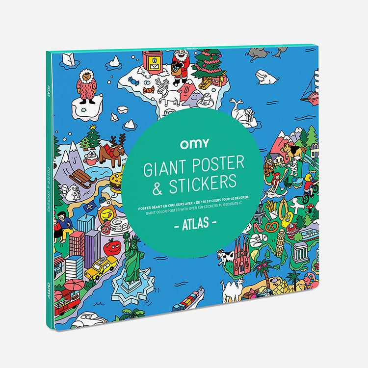 OMY Atlas Giant Poster and Stickers