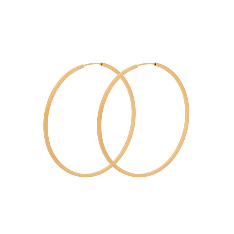 Pernille Corydon Gold Orbit Hoop Earrings 50mm