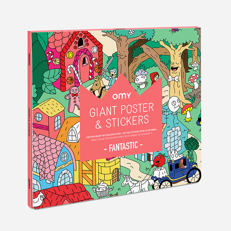 OMY Fantastic Nursery Rhymes Giant Poster and Stickers