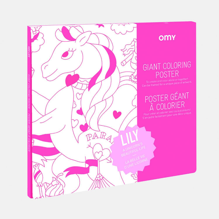 OMY Lily Giant Colouring Poster