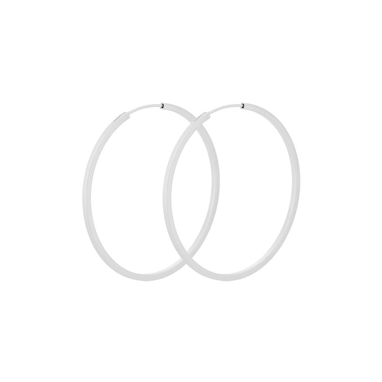 Pernille Corydon Small Silver Orbit Hoop Earrings 40 mm