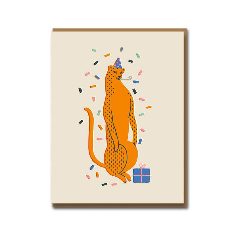 1973 Party Leopard Birthday Card