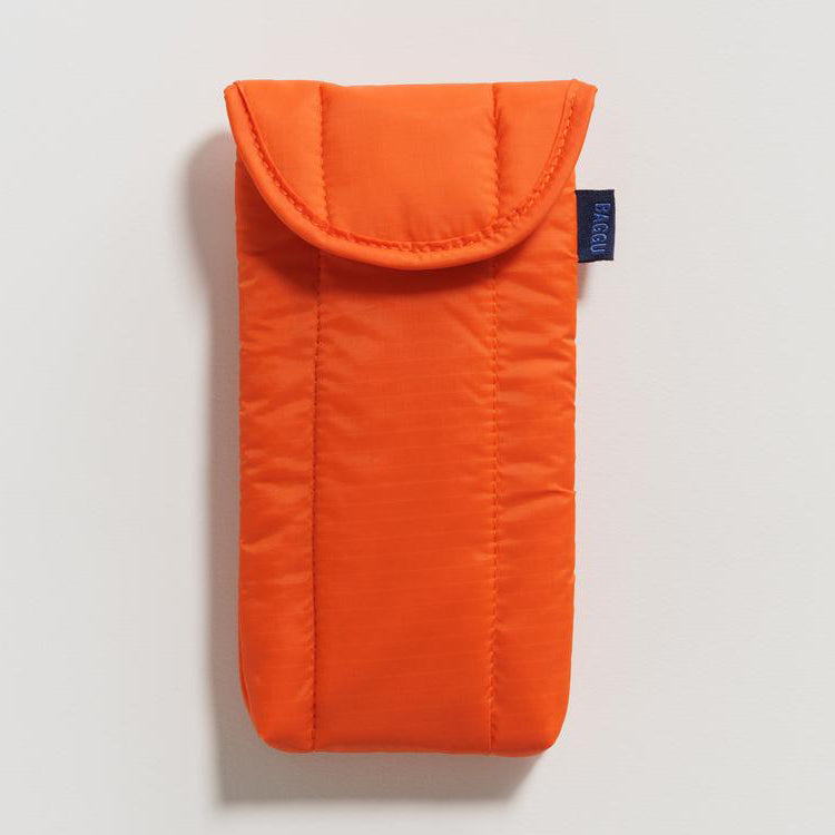 Baggu Orange Puffy Glasses Case