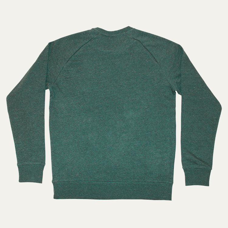 R Goods Men's Heather Green Crew Sweatshirt