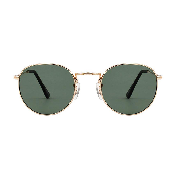 A.Kjærbede Hello Gold and Green Sunglasses - front view