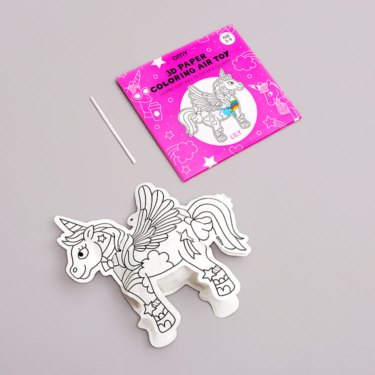 OMY Lily Unicorn 3D Colouring In Air Toy