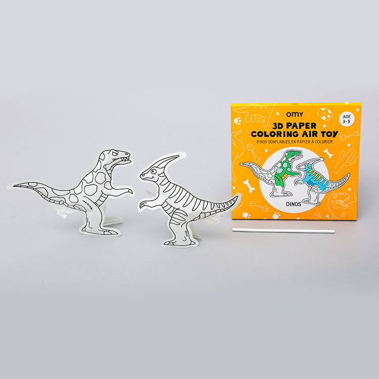 OMY Dinos 3D Colouring In Air Toy