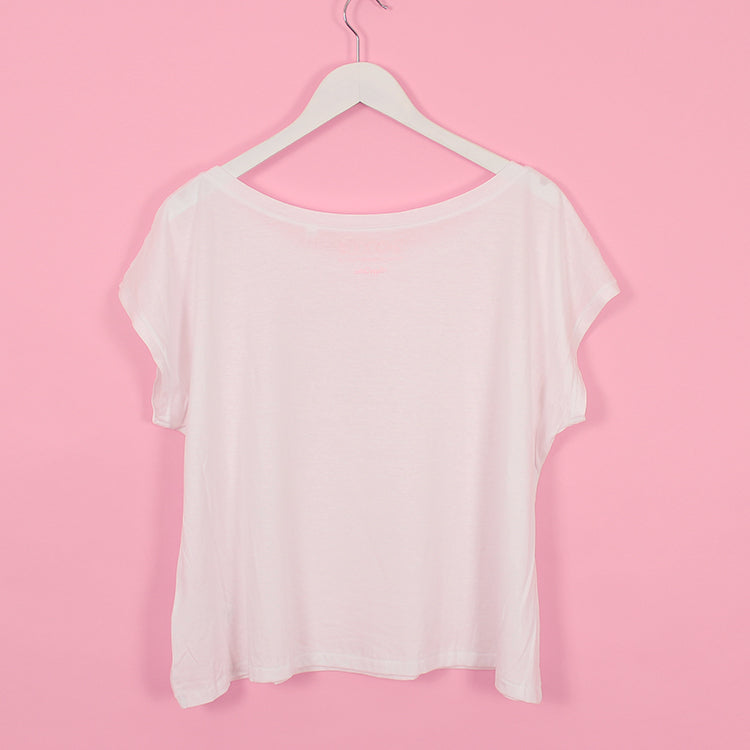 R Goods Women's White Box Tee