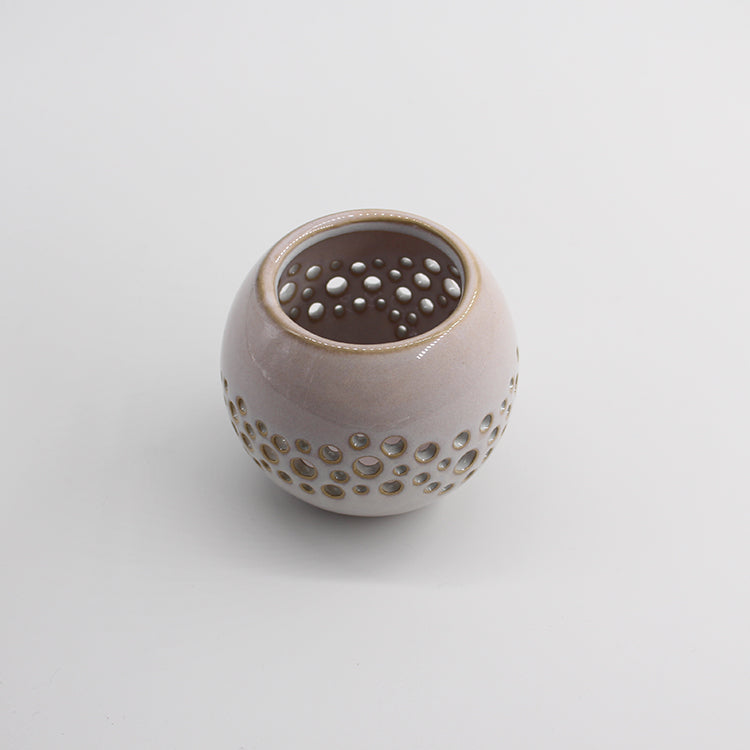 Bloomingville Mini White Stoneware Tea Light Pot