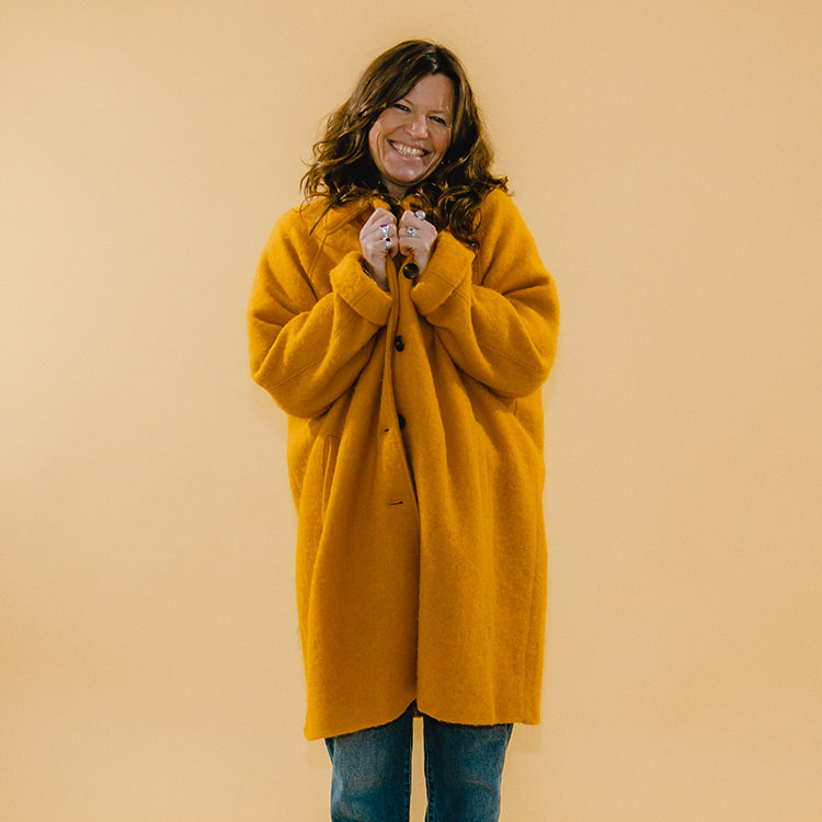 American Vintage Zesty Orange Zalirow Coat