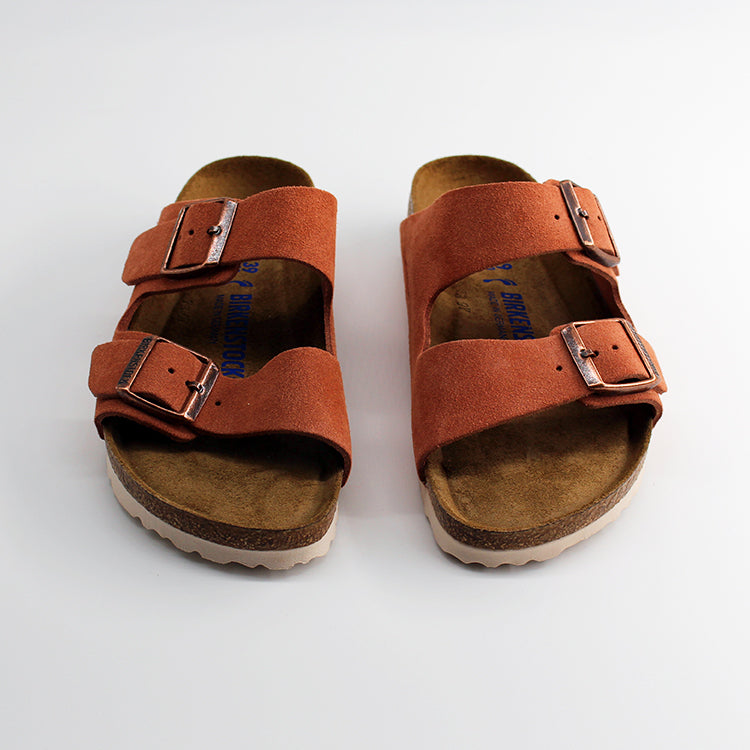 Birkenstock Arizona Suede Leather Earth Red Sandals