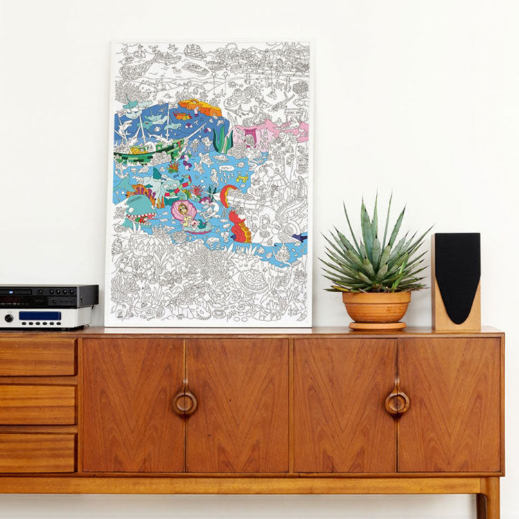 OMY Giant Ocean Colouring Poster