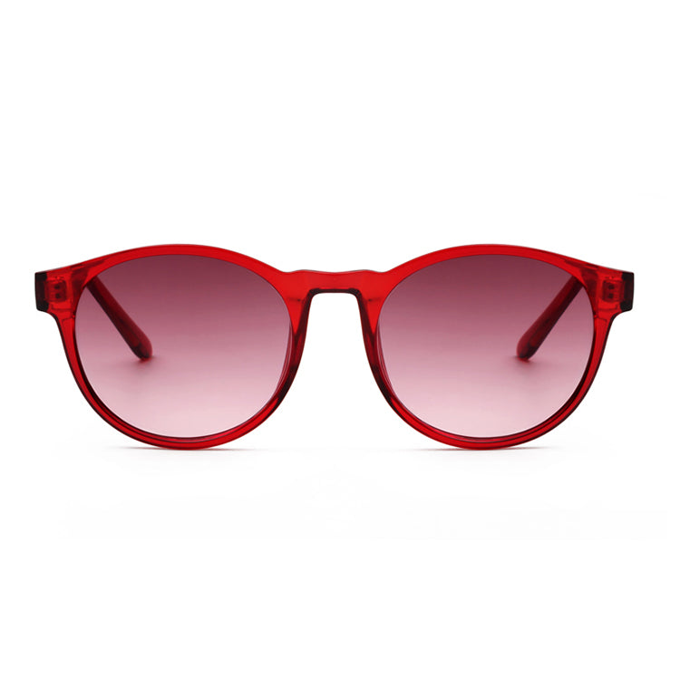 A.Kjærbede Red Transparent Marvin Sunglasses - front view