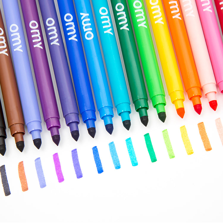 OMY Ultra Washable Felt Tip Pens