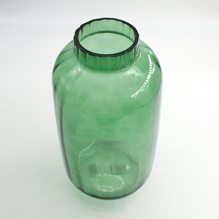Bloomingville Large Green Glass Vase
