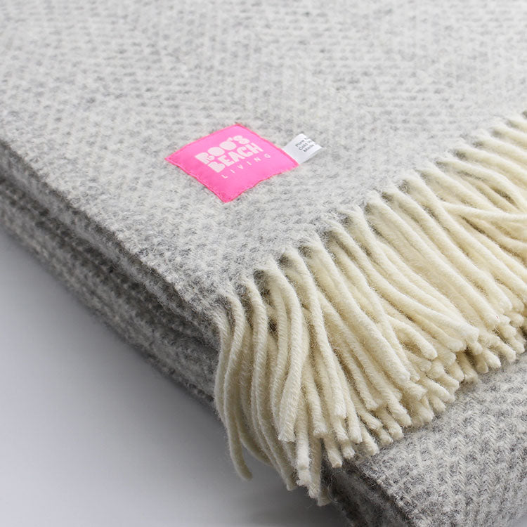 Lifestyle Beehive Grey Pure Wool Throw