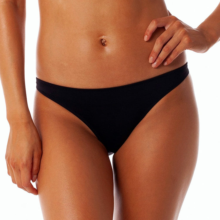 Rhythm Islander Black Beach Bikini Bottoms