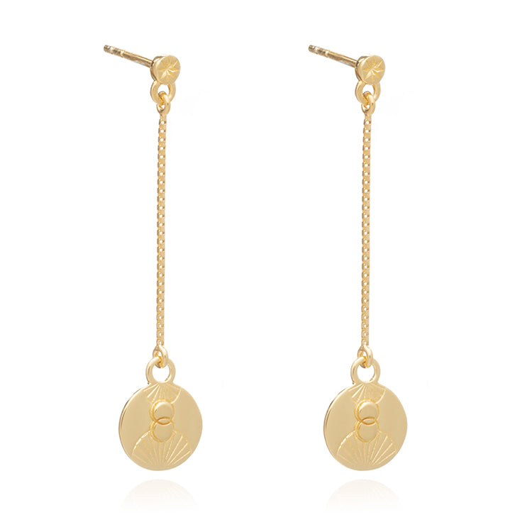 Rachel Jackson Luminary Art Coin Drop Gold Earrings