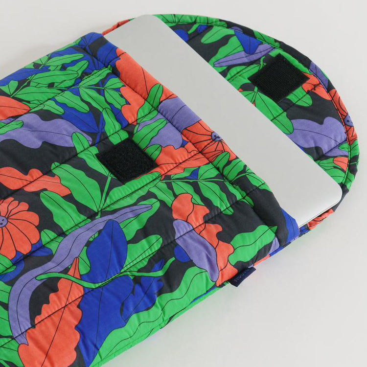 Baggu Midnight Fern Puffy Laptop Sleeve 13