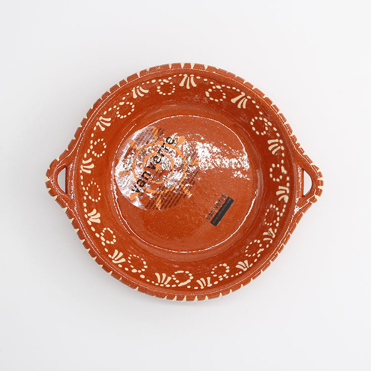 Van Verre Terracotta Serving Dish with Handles