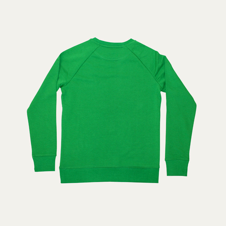 R Goods Kids Grasshopper Green Crew Sweatshirt