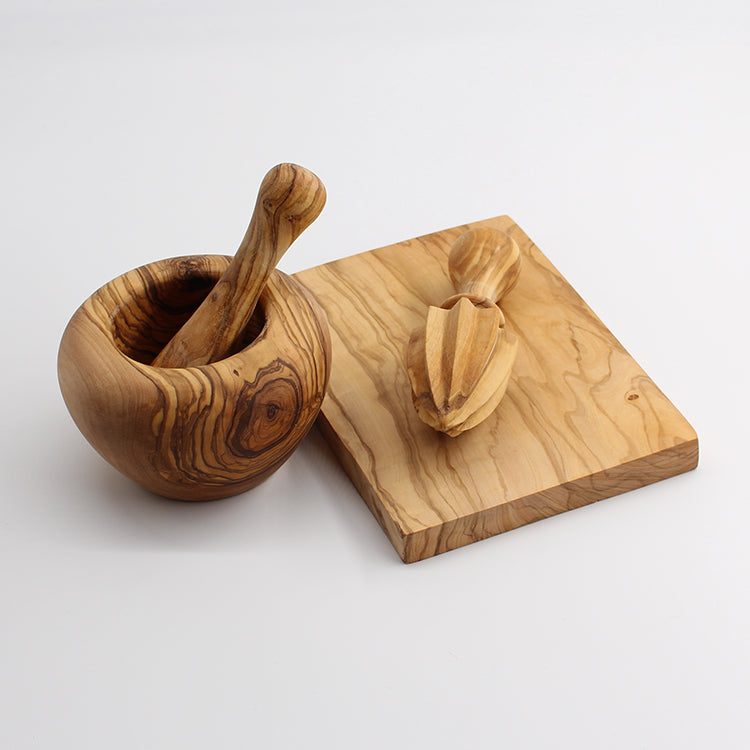 Van Verre Olive Wood Pestle and Mortar