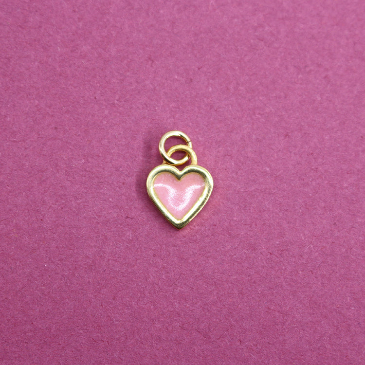 Sophie Harley Dusky Pink Classic Heart Charm