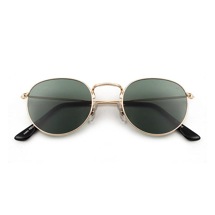 A.Kjærbede Hello Gold and Green Sunglasses - alt image