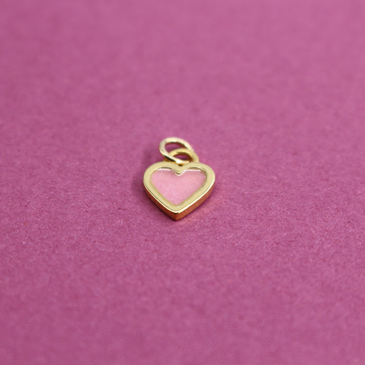 Sophie Harley Baby Pink Classic Heart Charm