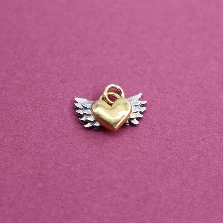 Sophie Harley Chubby Winged Heart Charm