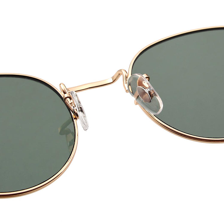 A.Kjærbede Hello Gold and Green Sunglasses - detailed